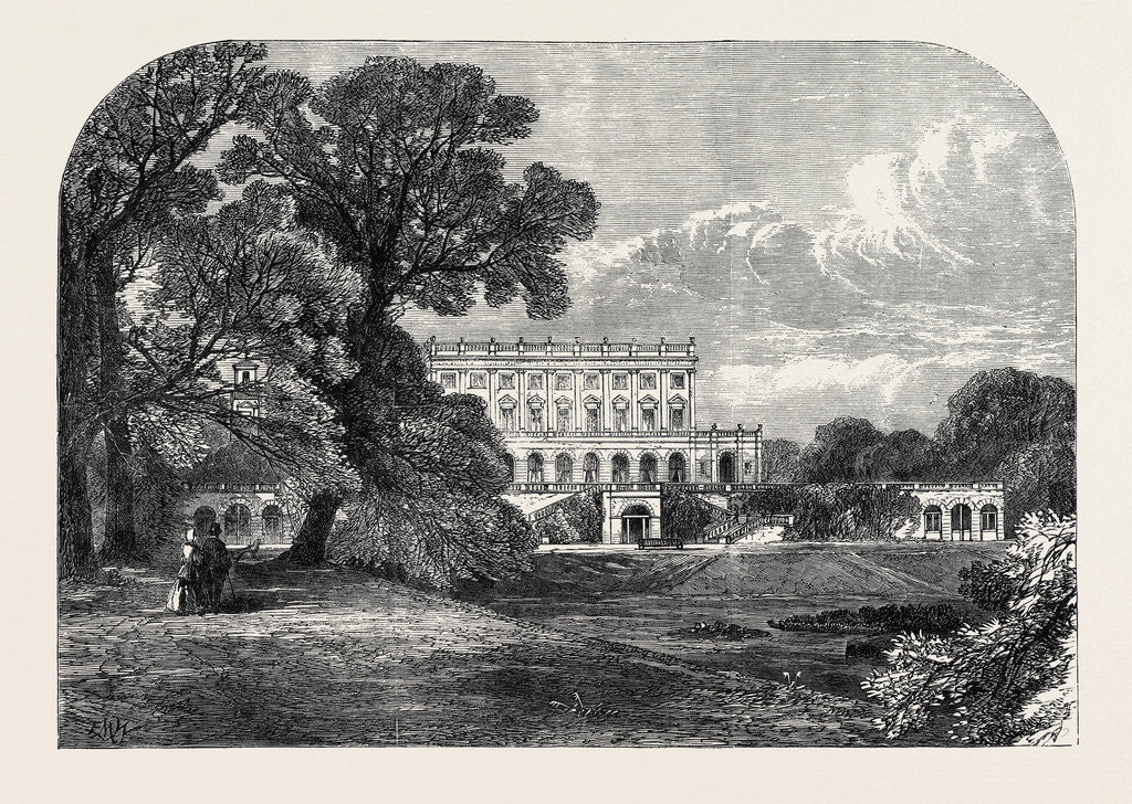 Cliefden the Residence of the Dowager Duchess of Sutherland Visited by the Queen 1866 by Anonymous