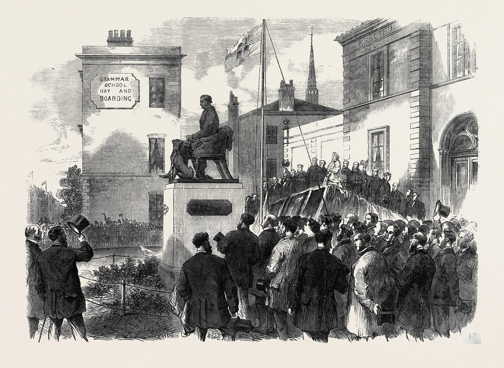 Detail of Inauguration of the Statue of the Late Mr. Richard Green at the Public Baths Poplar 1866 by Anonymous