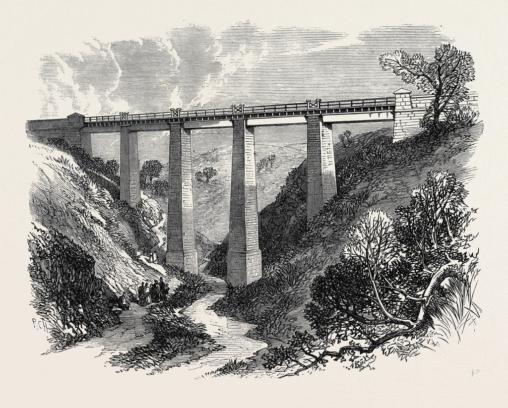 Detail of The Daff Viaduct of the Greenock and Wemyss Bay Railway 1866 by Anonymous