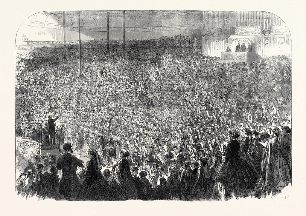 Detail of The Annual Choral Meeting of Metropolitan Schools at the Crystal Palace UK 1866 by Anonymous