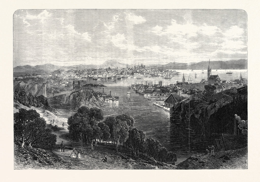 Detail of The Town and Harbour of St. John New Brunswick 1866 by Anonymous