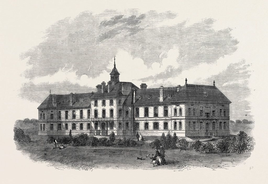 Detail of The Royal Surrey County Hospital UK 1866 by Anonymous