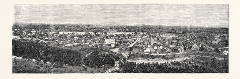 Detail of Brisbane the Capital of Queensland Australia 1866 by Anonymous