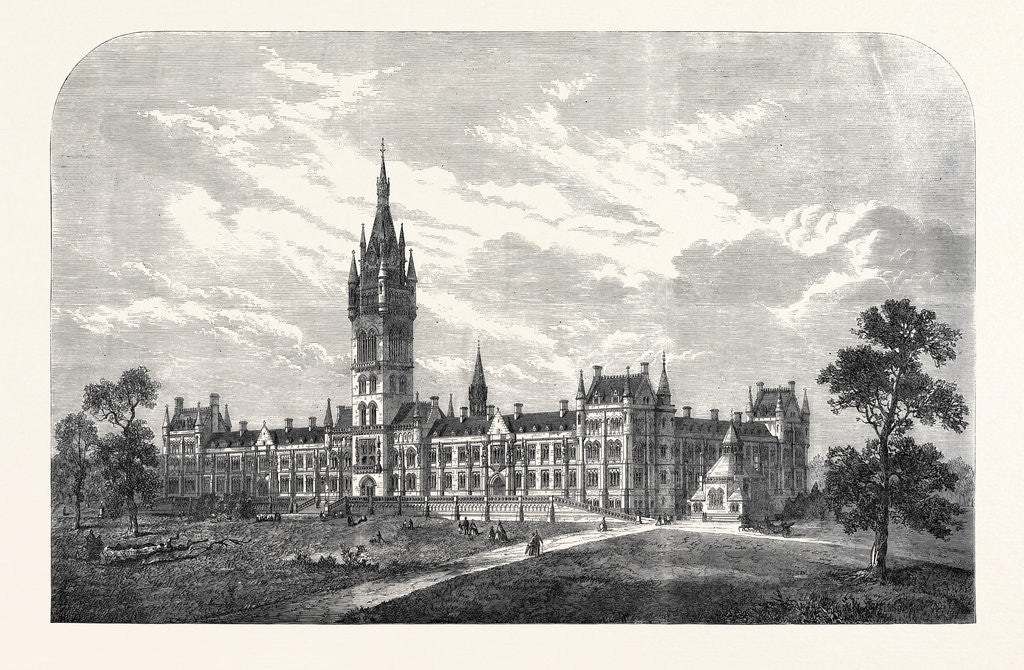Detail of The Glasgow University: Intended New Buildings UK 1866 by Anonymous