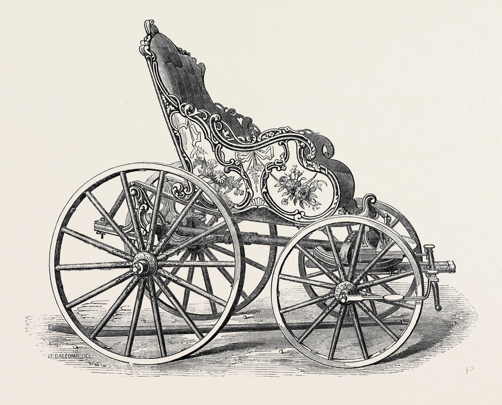 Detail of Old Carriage of French or Flemish Pattern by Anonymous