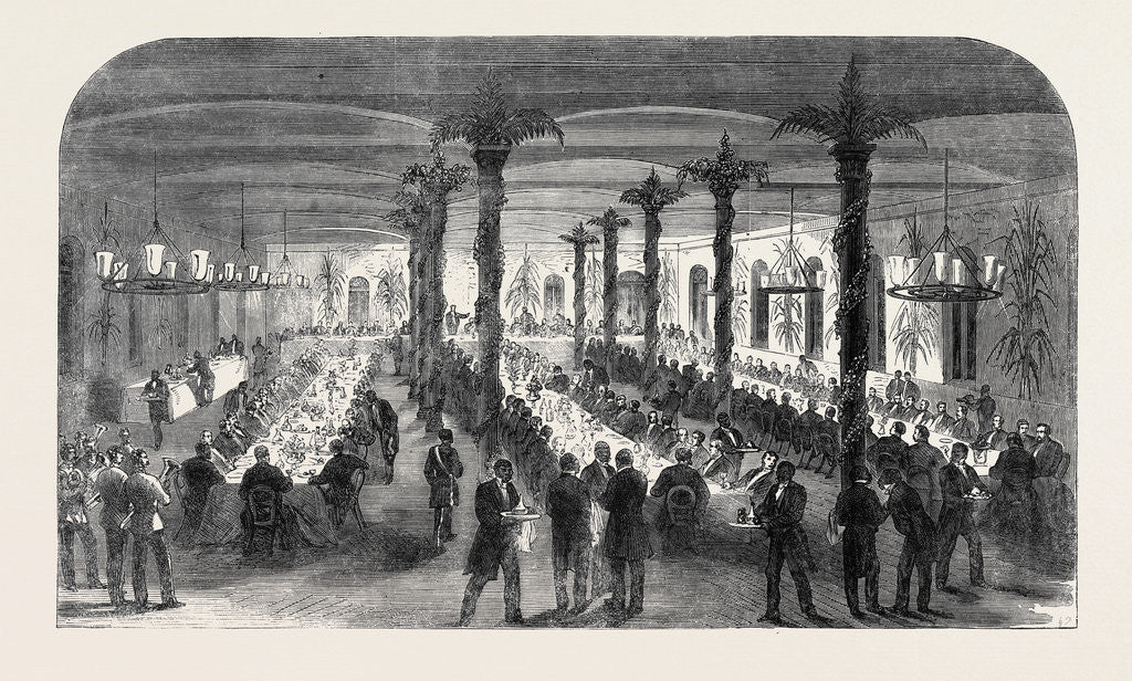 Detail of Public Dinner at Barbadoes in Honour of the Commissioners from the British North American Provinces 1866 by Anonymous