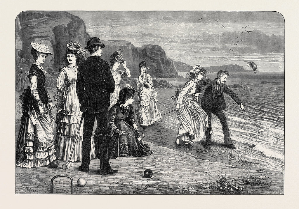 Detail of Croquet Under Difficulties 1871 by Anonymous