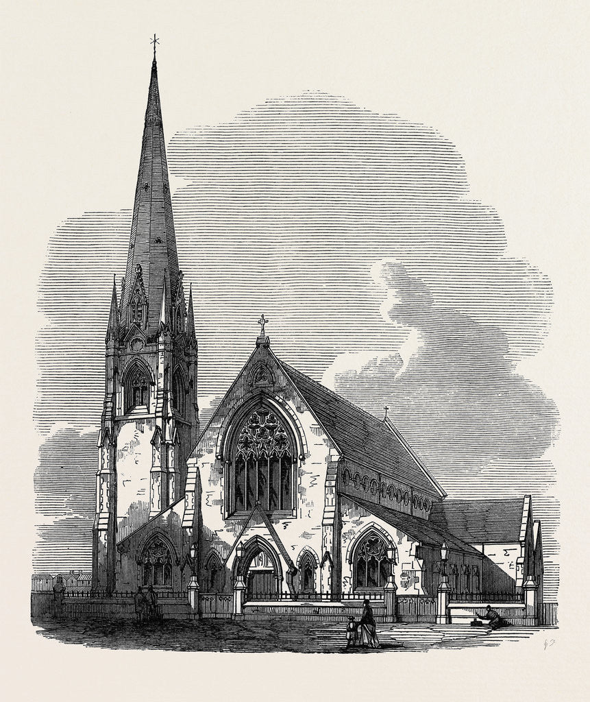 Detail of St. James's Church Camberwell London 1871 by Anonymous
