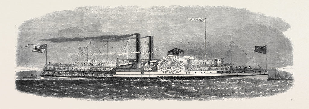 Detail of The New World One of the Hudson River Steamers by Anonymous