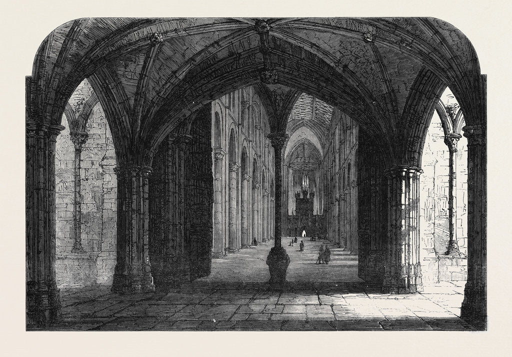 Detail of The Archaeological Institute of Great Britain at Peterborough: Entrance to the Nave of the Cathedral by Anonymous