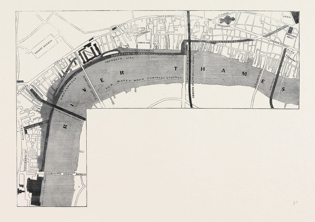Detail of Plan of the Proposed Thames Embankment Saturday August 10 1861. by Anonymous