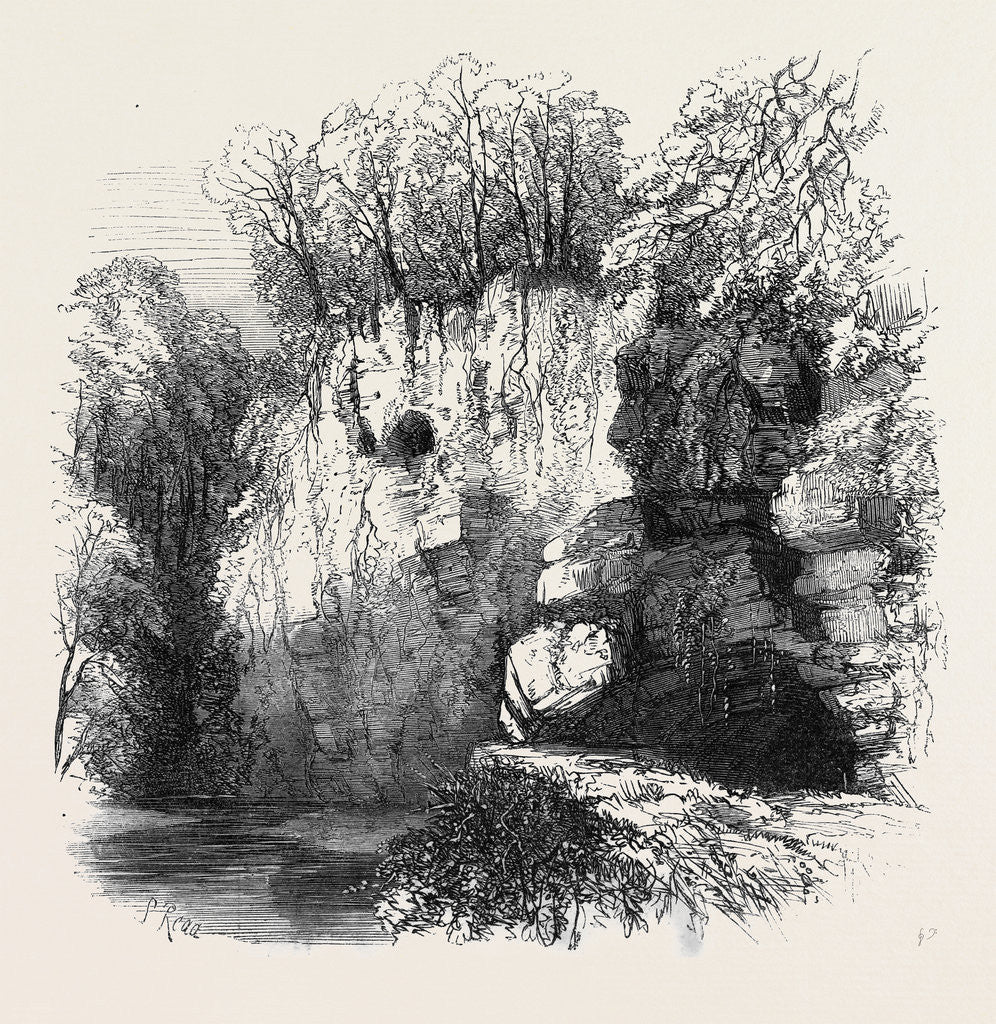 Detail of The Caves of Jedburgh Hiding Places of the Covenanters by Anonymous