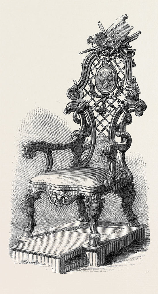 Detail of Garrick's Shakspeare Chair by Anonymous