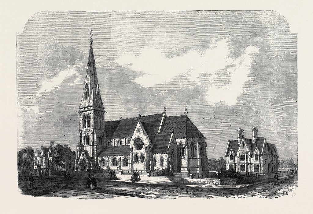 Detail of St. Ann's Church Parsonage and Schools Hanger Lane Stamford Hill by Anonymous