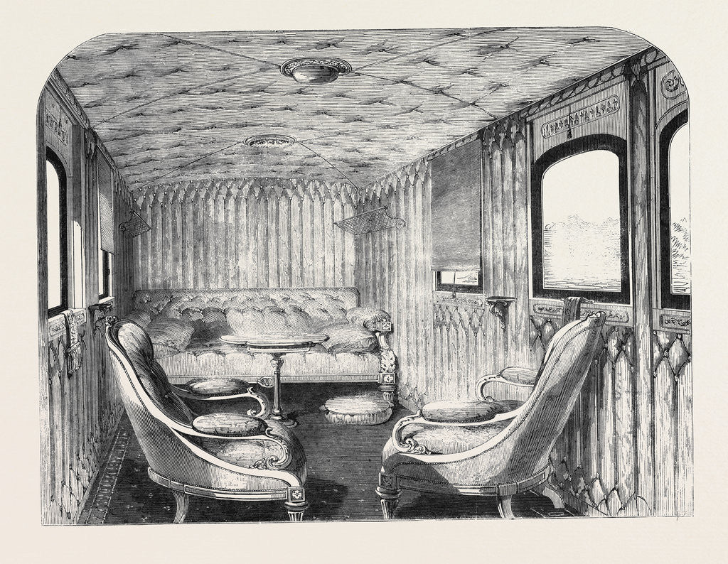 Detail of Saloon of Her Majesty's Carriage on the London and North-Western Railway. by Anonymous