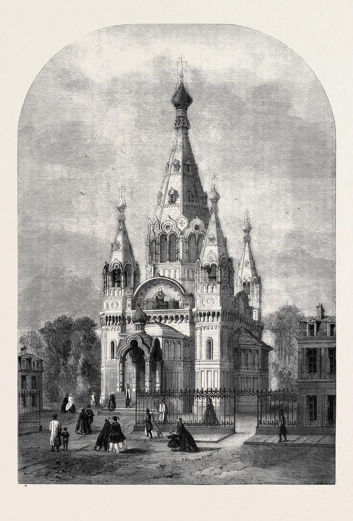 Detail of The New Russian Church in Paris by Anonymous