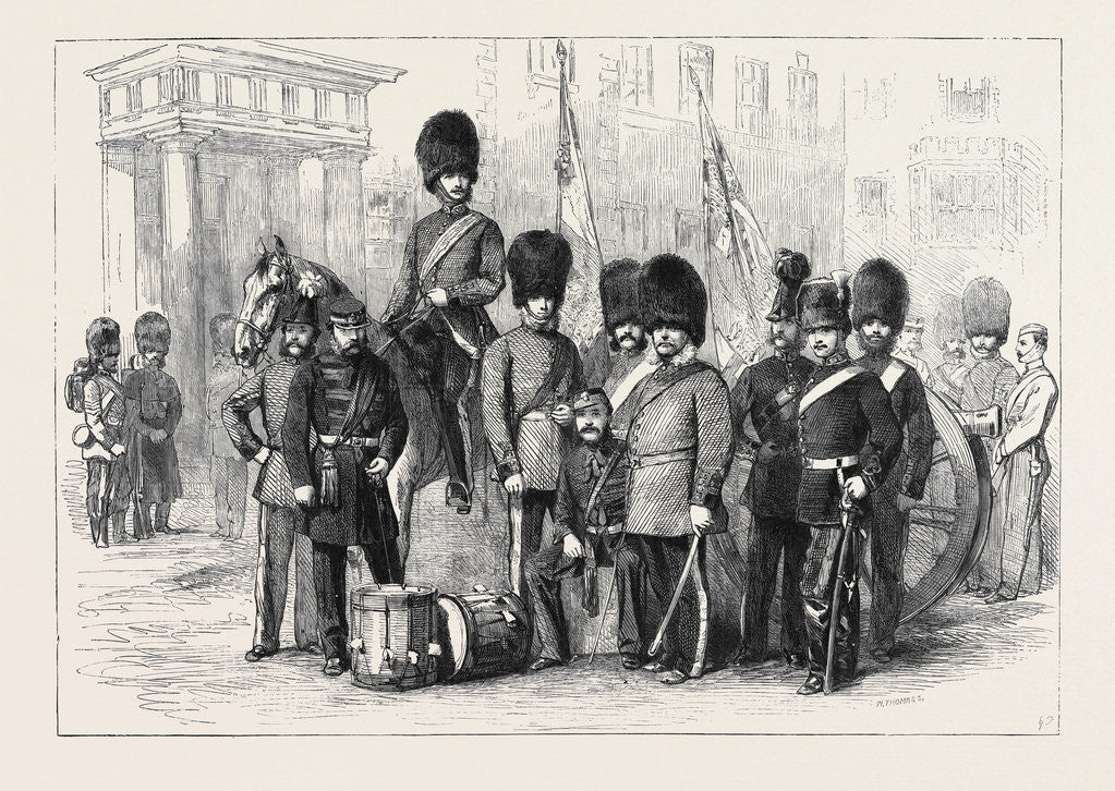 Detail of Officers and Privates of the Hon. Artillery Company of London by Anonymous