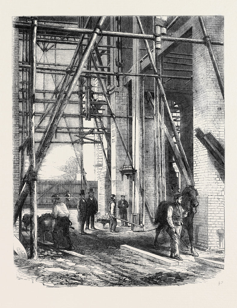Detail of Progress of the Great Exhibition Building: Hoisting Apparatus by Anonymous