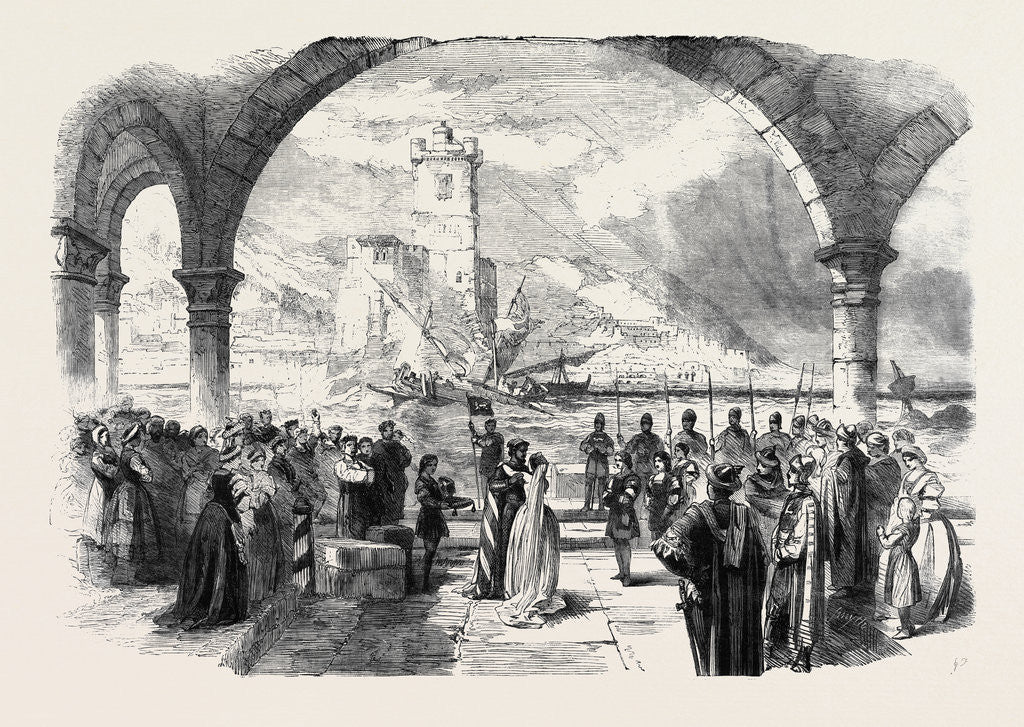 Scene from Othello at the Princess Theatre the Town and Harbour of Cyprus by Anonymous