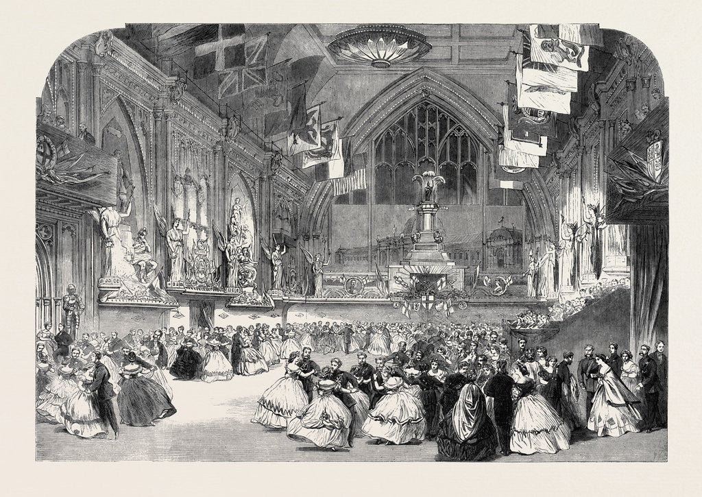 Detail of The London Rifle Brigade Ball at Guildhall by Anonymous