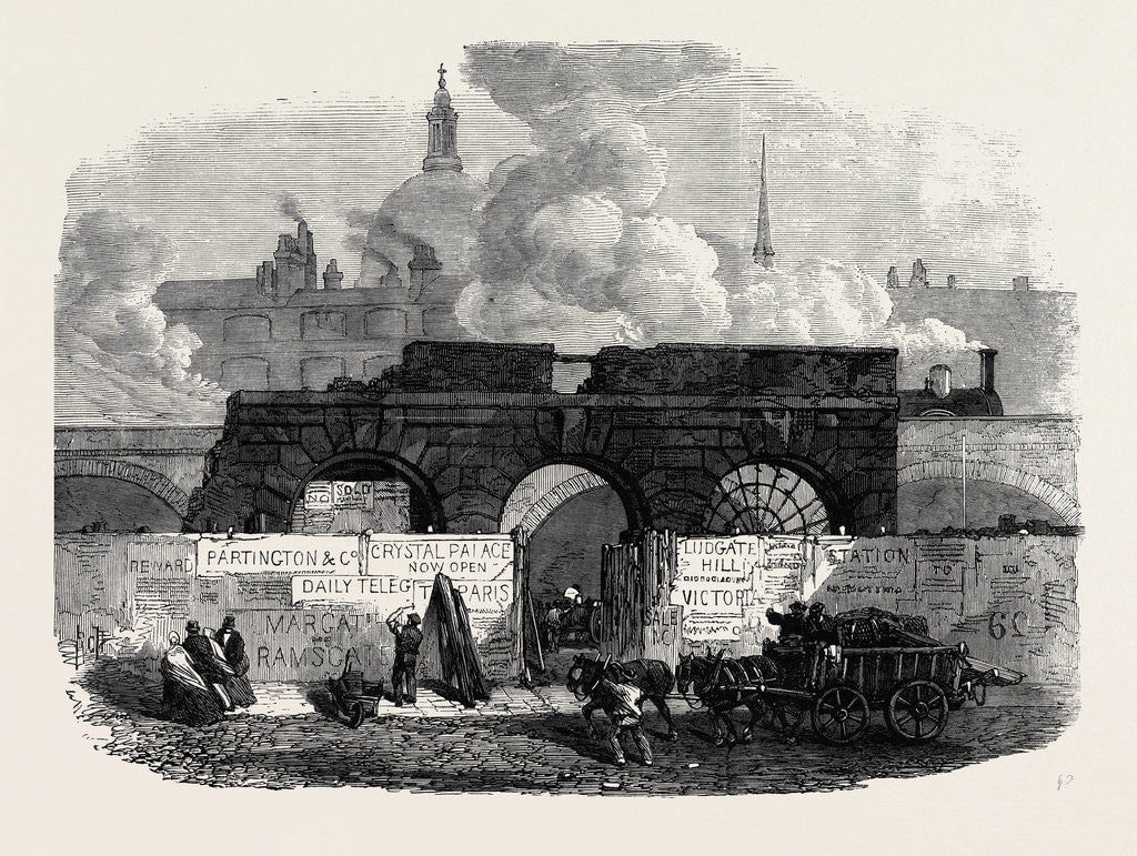 Detail of The Last of the Old Fleet Prison 1868 by Anonymous