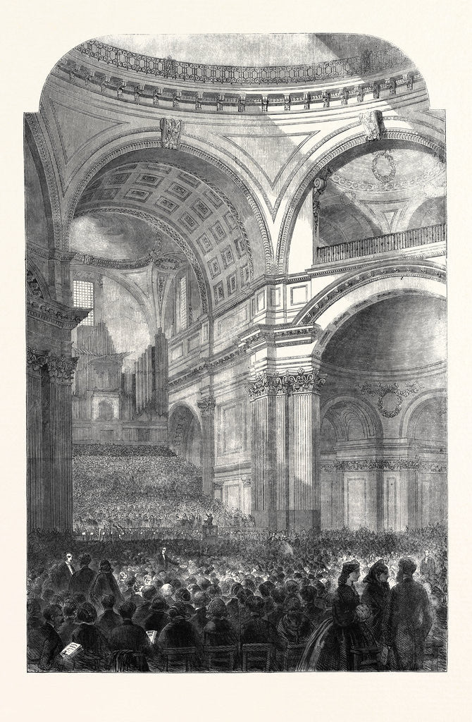 Detail of The Performance of the Messiah in St. Paul's Cathedral 1861 by Anonymous
