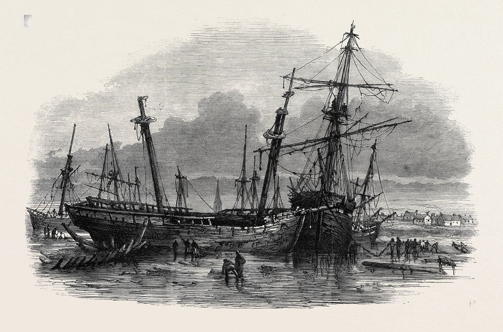 The Recent Gale Wrecks at Hartlepool February 1861 by Anonymous