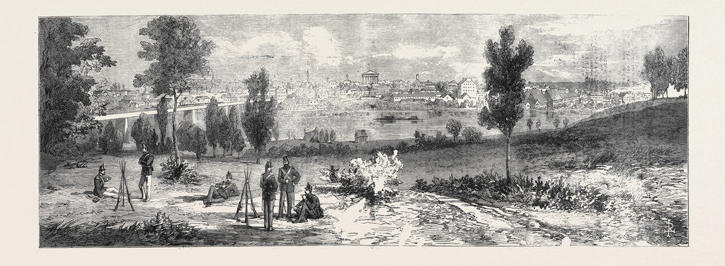 Detail of The Civil War in America: View of Richmond the Capital of Virginia 1861 by Anonymous