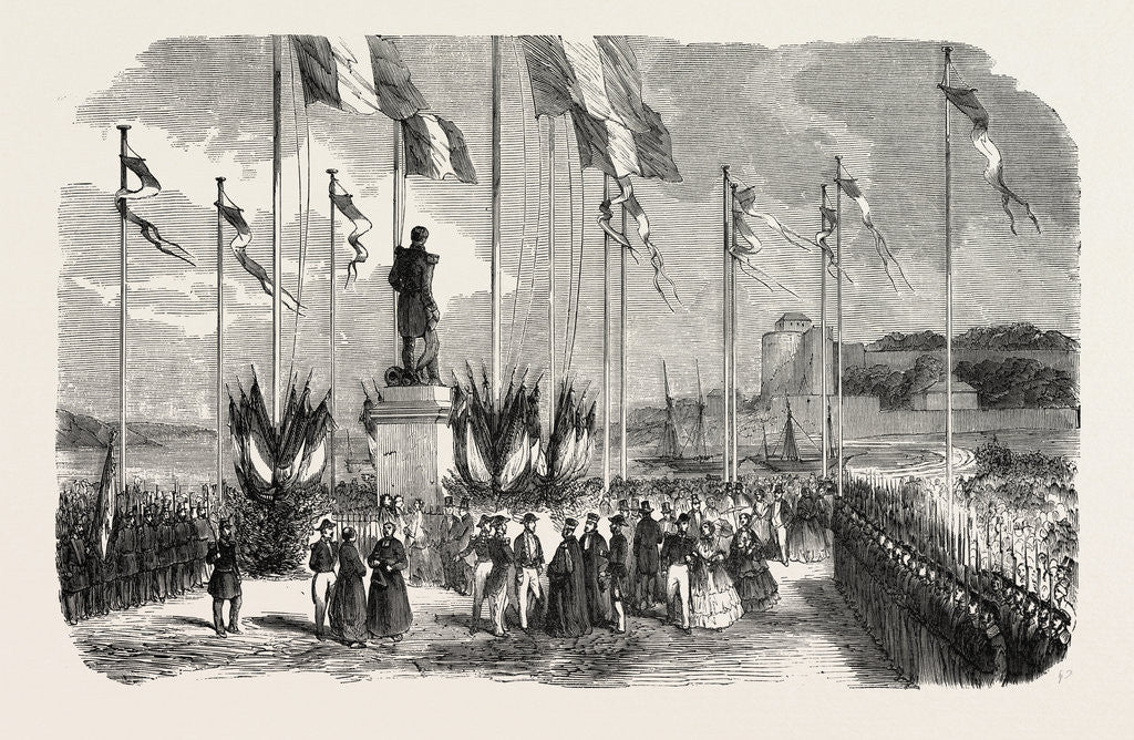 Detail of Inauguration of the Statue of Admiral Le Ray, Pornic, August 12, 1855, Engraving by Anonymous