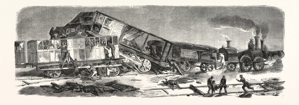 Detail of Accident Happened on the Versailles Railway, September 9, 1855, France by Anonymous