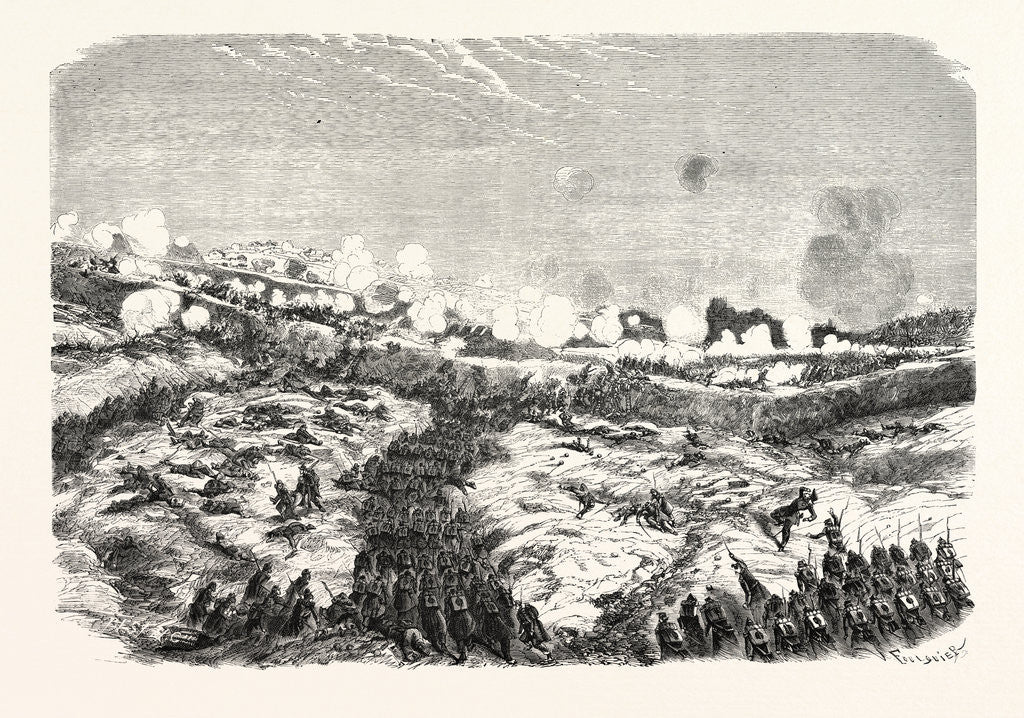 Detail of Attack of the Courtine by the Devision of the Motterouge. The Crimean War, 1855 by Anonymous