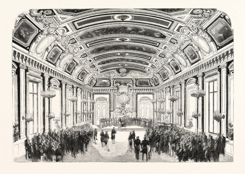 Detail of Day Given by the Exhibitors in the Hotel Du Louvre. The Reception Room. France, 1855. Paris, France, Exposition Universelle by Anonymous