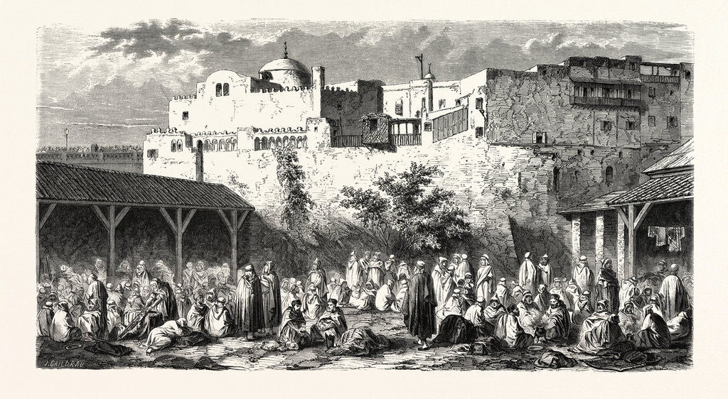 Detail of Camp Algiers, Pilgrims Returning from Mecca, 1855 by Anonymous