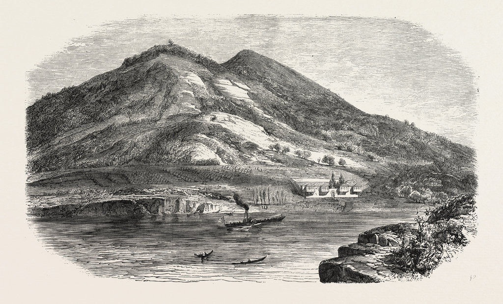 Detail of Camp of the Russian Prisoners on the Island of Prinkipo, 1855 by Anonymous