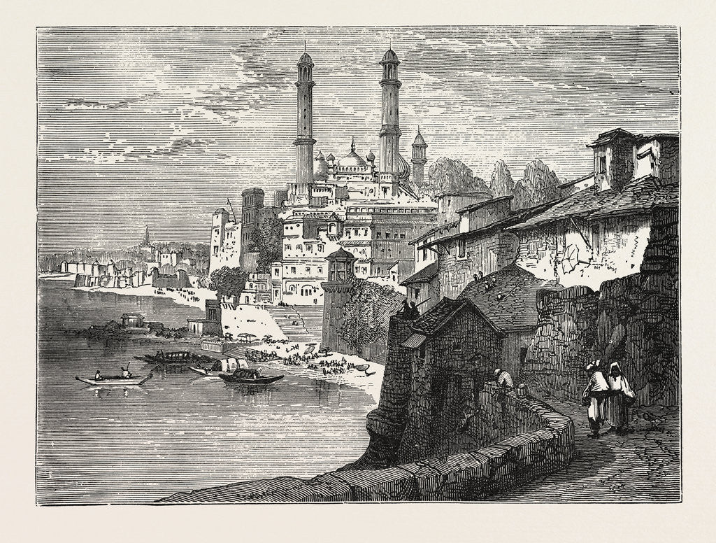 Detail of Benares, from the Ganges by Anonymous