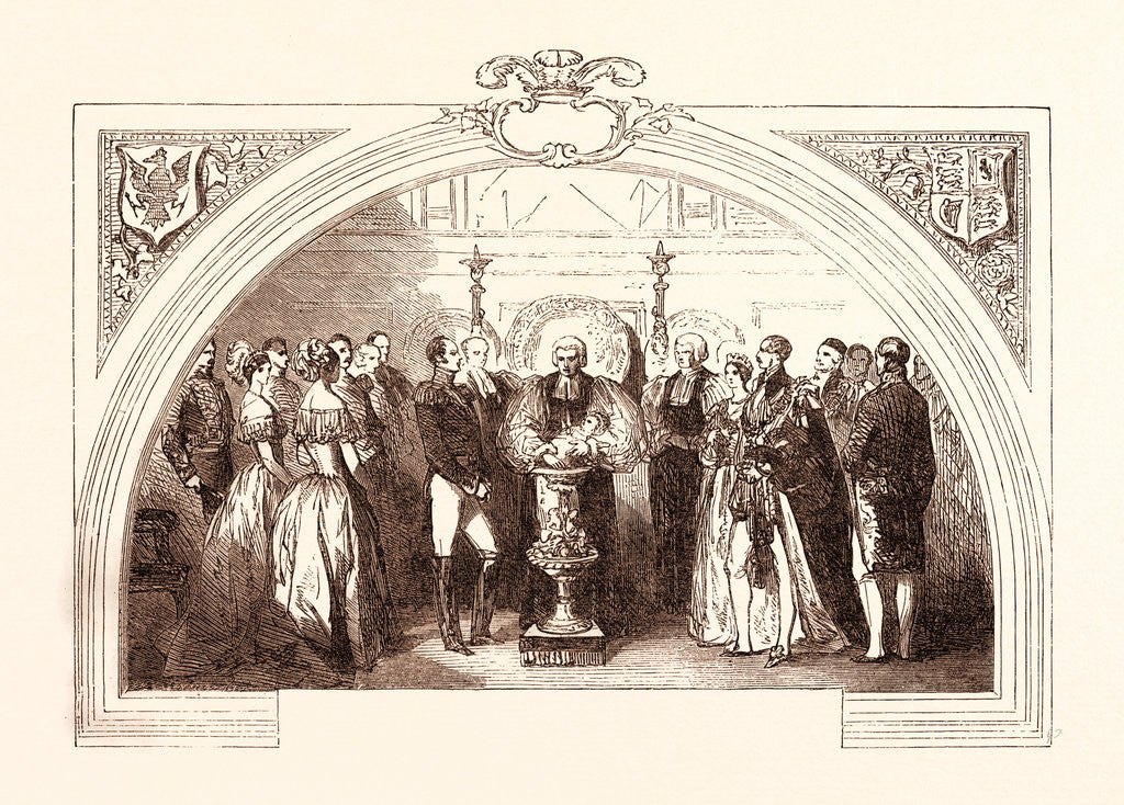 Detail of Christening of the Prince of Wales at St. George's Chapel, Windsor, January 25, 1842 by Anonymous