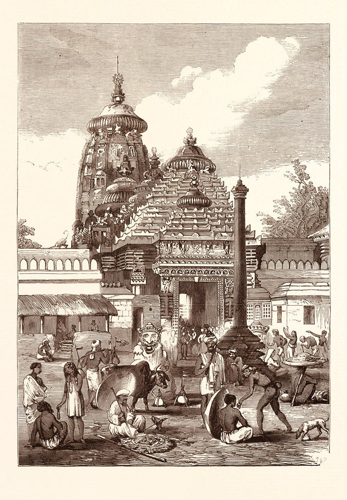 Detail of Juggernaut: The Entrance to the Temple. Jagannath Temple in Puri, Orissa, India by Anonymous