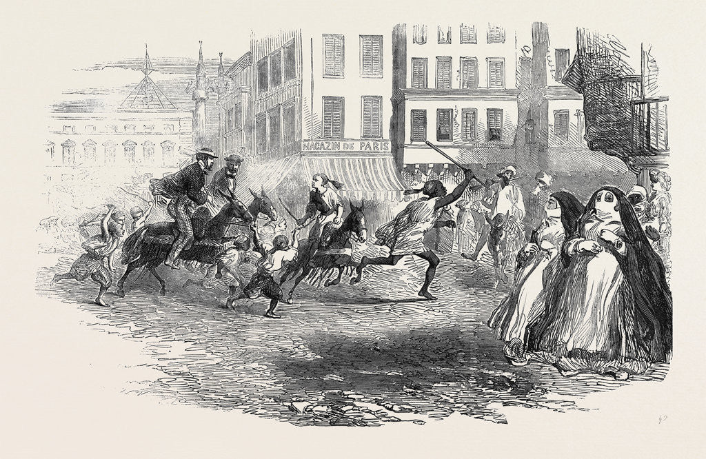 Detail of Donkey Races in Alexandria. by Anonymous
