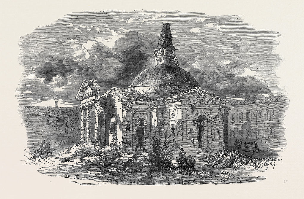 Detail of The Church of Peter and Paul, in Sebastopol, Showing the Effect of the Shot and Shell by Anonymous
