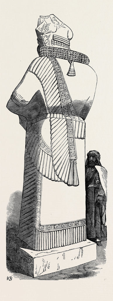 Detail of Recent Discoveries at Nineveh: Colossal Statue by Anonymous