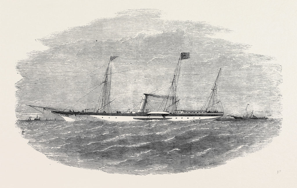 Detail of The Yacht Meriel, R.H.Y.S., 210 Tons, and Her Tender New Quarterly, 150 Tons by Anonymous