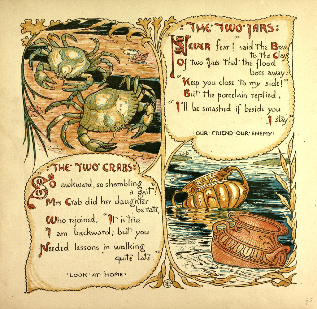 Detail of The Two Jars the Two Crabs by Anonymous