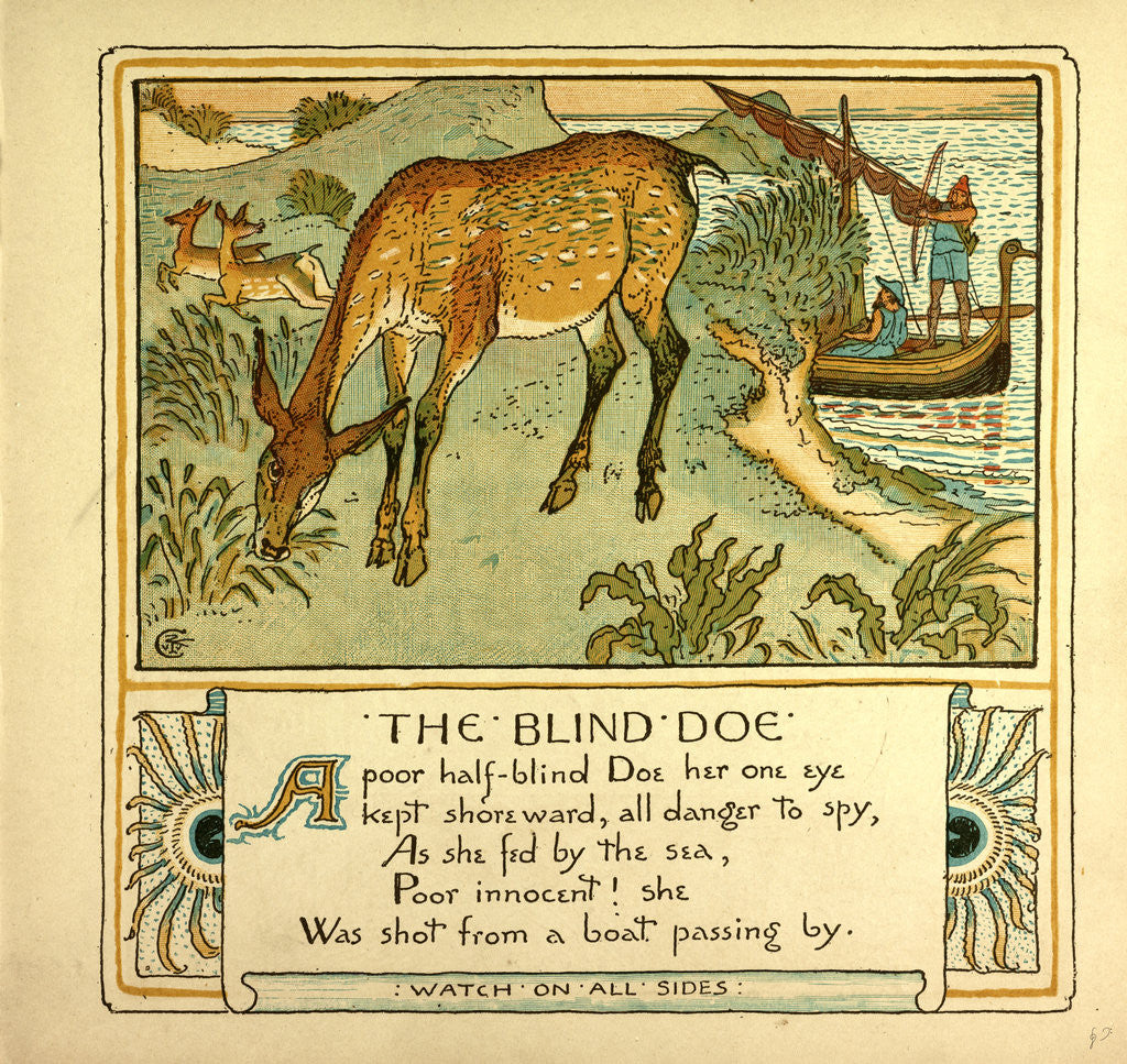Detail of The Blind Doe by Anonymous
