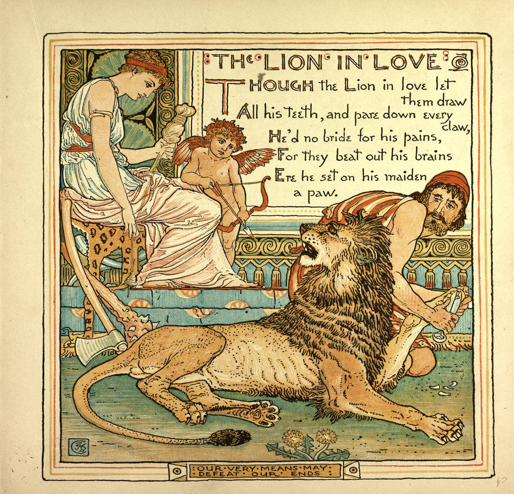 Detail of The Lion in Love by Anonymous