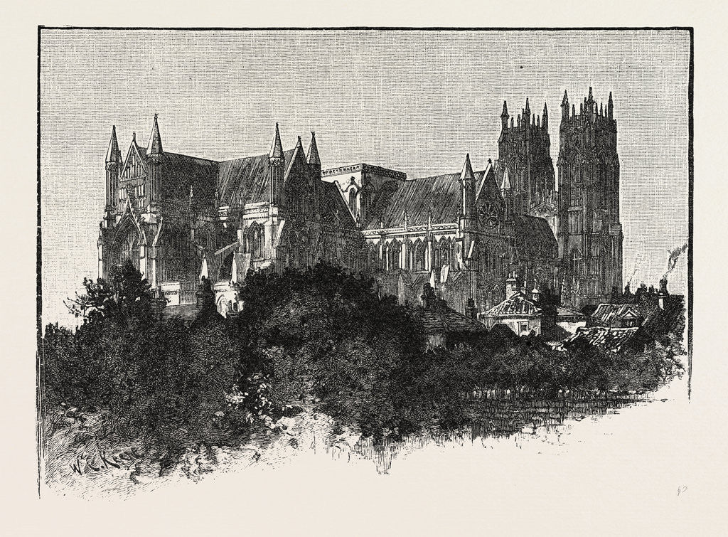 Detail of Beverley Minster, from the North-East. by Anonymous