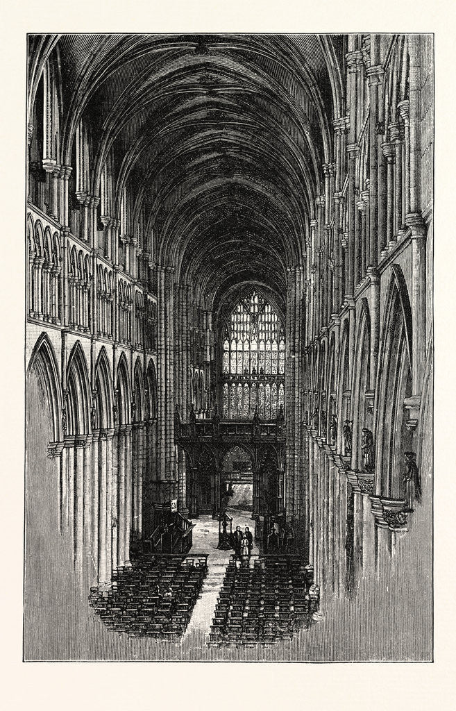 Detail of Beverley Minster, the Nave, Looking East. by Anonymous