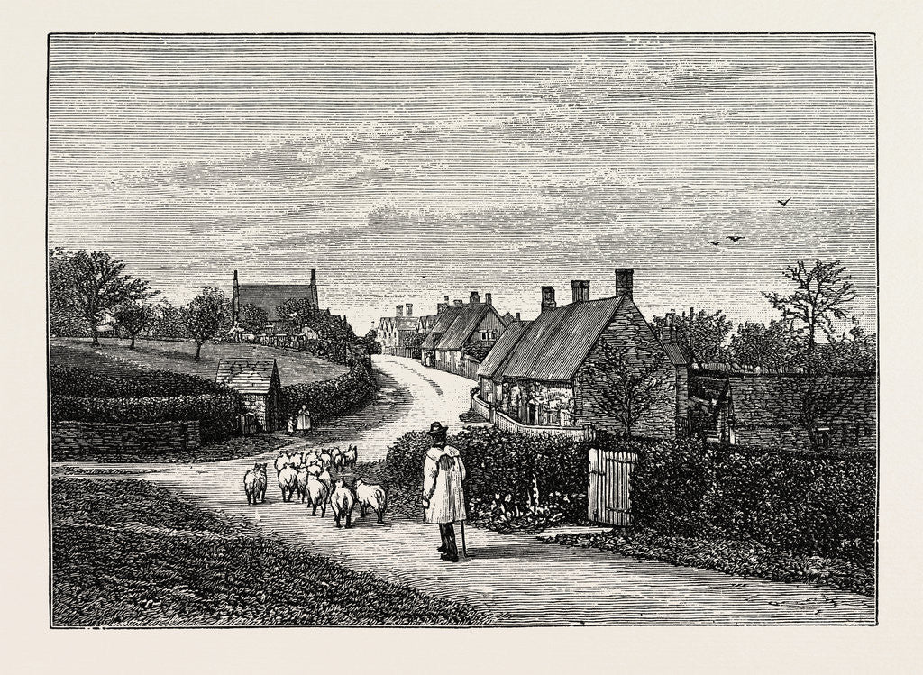 Detail of General View of Great Brington by Anonymous