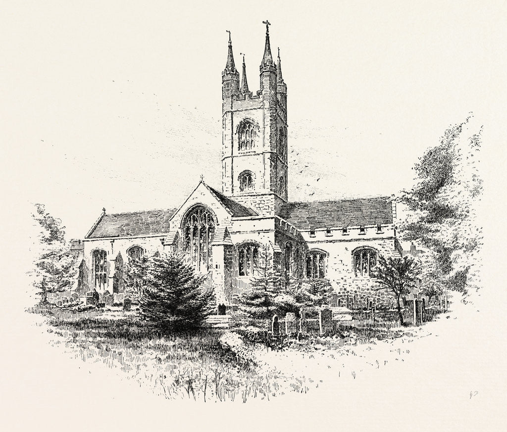 Detail of Ashford Church from the North West UK by Anonymous
