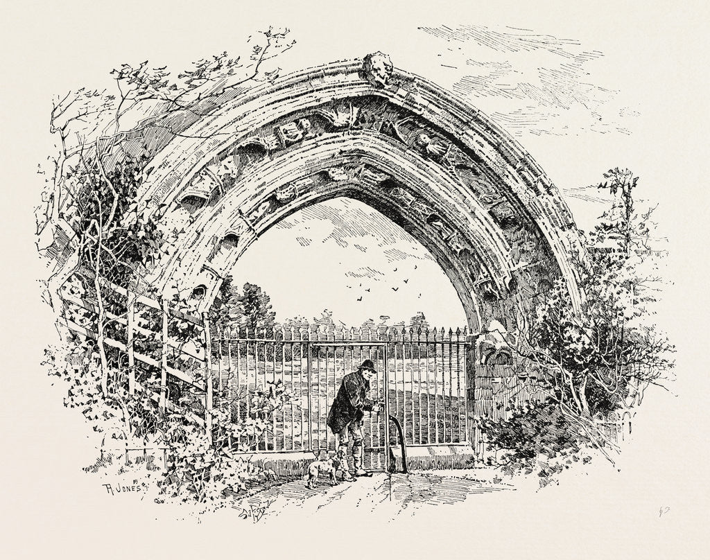 Detail of Derby, Ruined Arch Leading to Vestibule of the Chapter-House by Anonymous