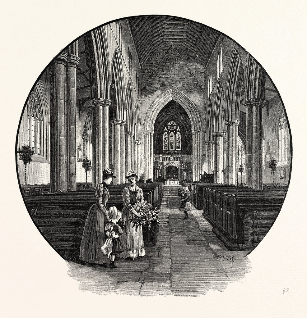 Howden Church, the Interior, Looking East by Anonymous